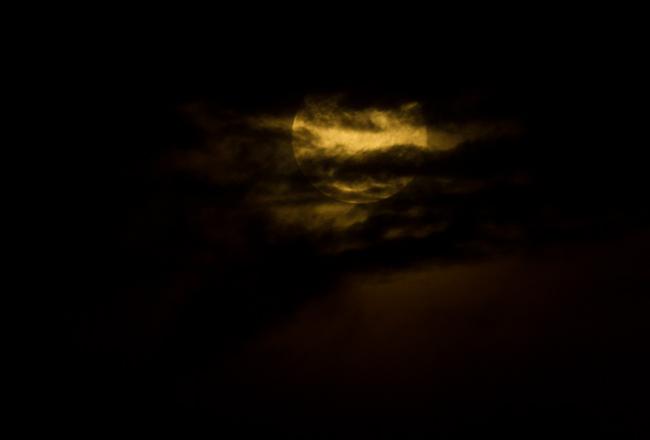 Full moon, Harvest moon, moon, clouds, spooky, clouds, sky, dark