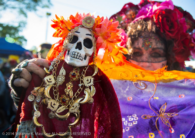 celebrations, costume, Day of the Dead, face paint, Florida < United States < North America, flowers, Fort Lauderdale, HOLIDAY, skeleton, South Florida, woman