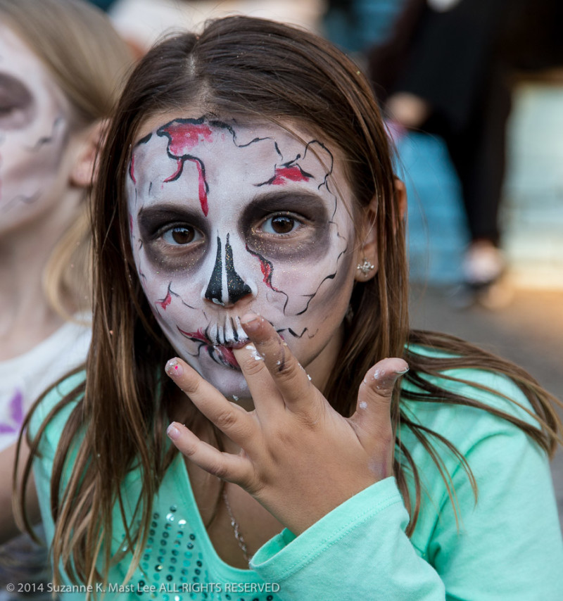 celebrations, costume, Day of the Dead, face paint, Florida < United States < North America, flowers, Fort Lauderdale, HOLIDAY, kids, South Florida, women