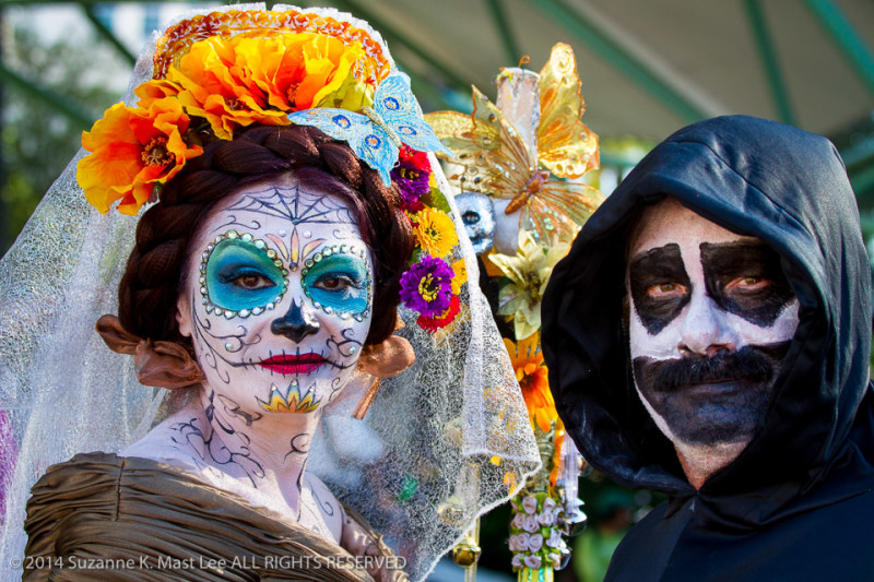 Bride and Groom, celebrations, costume, Day of the Dead, Florida < United States < North America, Fort Lauderdale, Frida Kahlo, HOLIDAY, South Florida, wedding