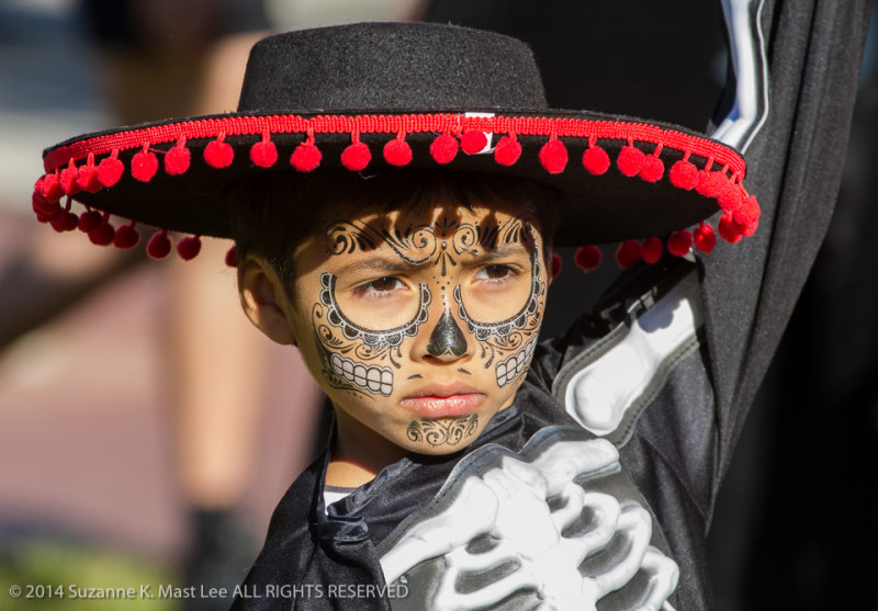 Boy, celebrations, costume, Day of the Dead, Florida < United States < North America, Fort Lauderdale, HOLIDAY, skeleton, South Florida