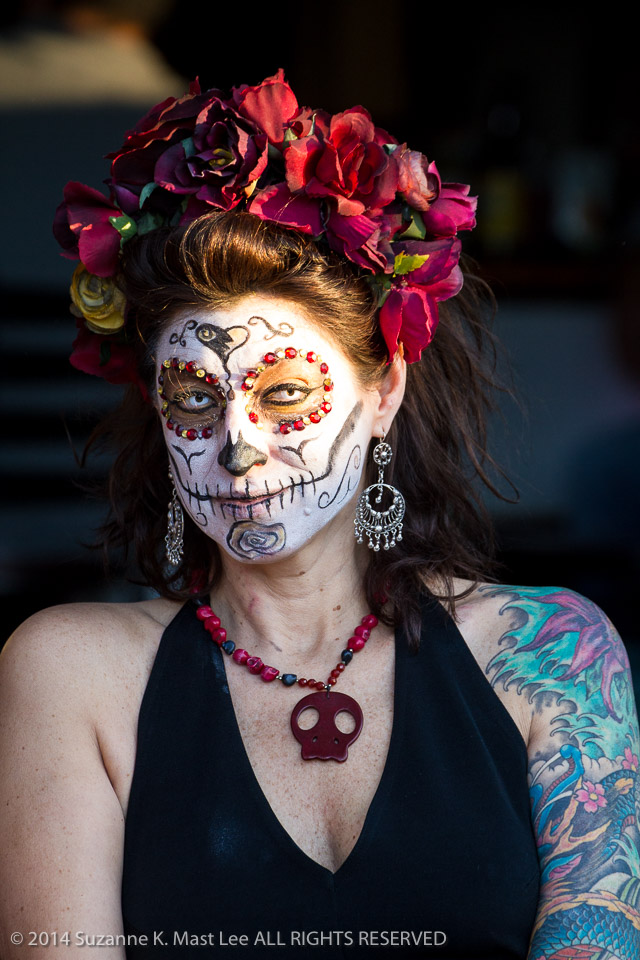celebrations, costume, Day of the Dead, face paint, Florida < United States < North America, flowers, Fort Lauderdale, HOLIDAY, South Florida, women